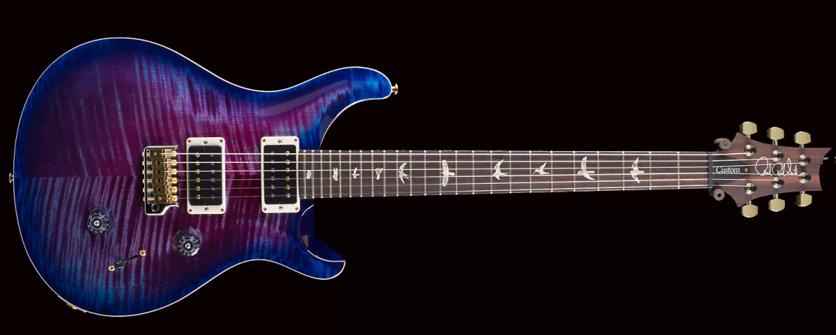 PRS CUSTOM 22 10-TOP Violet Blue Burst фото