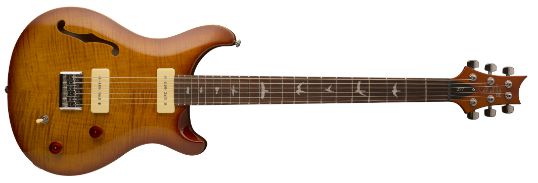Фото PRS SE 277 Semi-Hollow Soapbar Vintage Sunburst